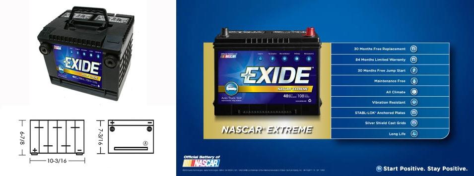 Exide battery images