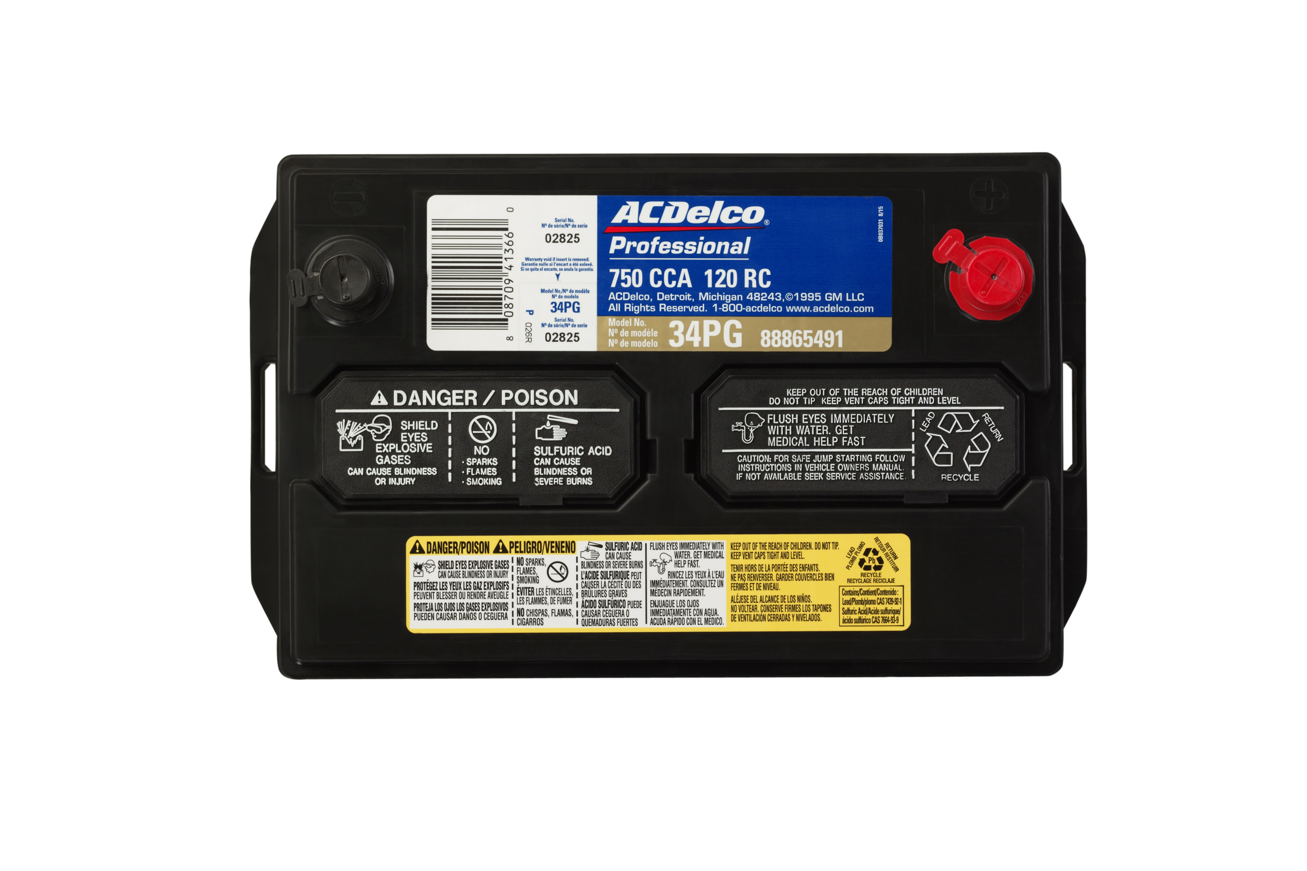 Acdelco Professional 88865491 Battery Asm 34pg