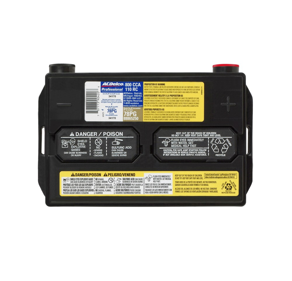 Acdelco Professional Battery 78vpg Nationalautostores Com
