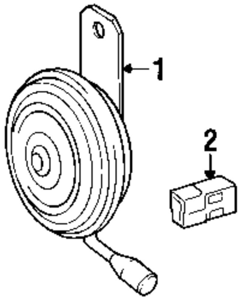 genuine s horn kit 89046916 weir parts 1998 Bonneville SSEi