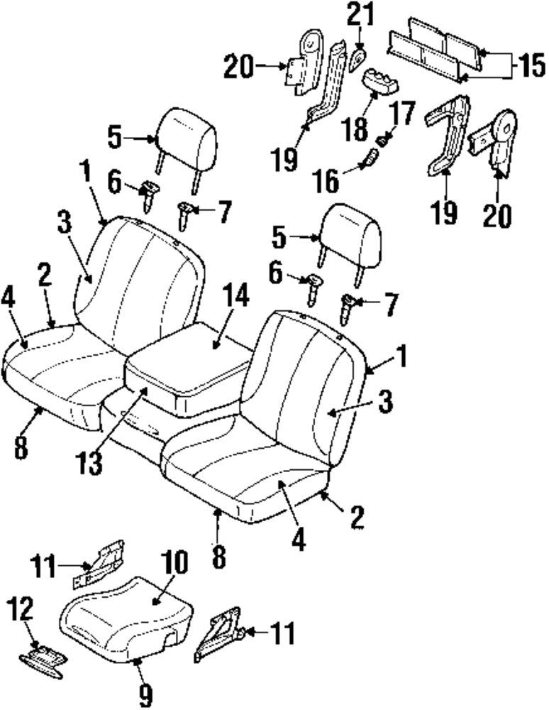 Genuine Seat Cover 1fm411j3aa