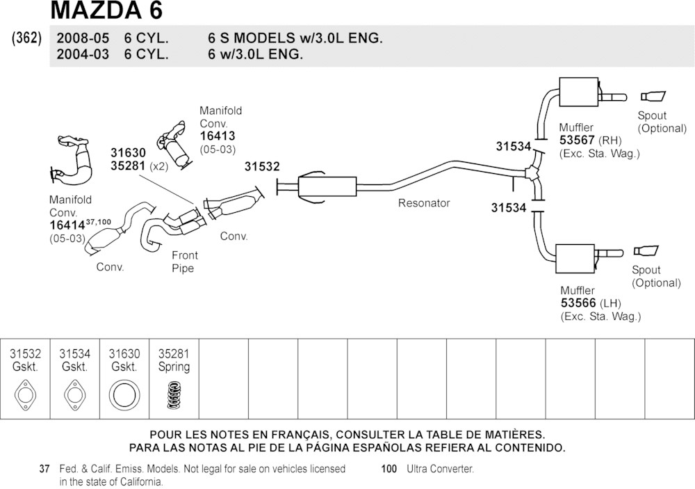 2003 mazda 6 exhaust system diagram mazda 6 cooling system diagram browse a make to buy parts from - discountautoparts.com ...