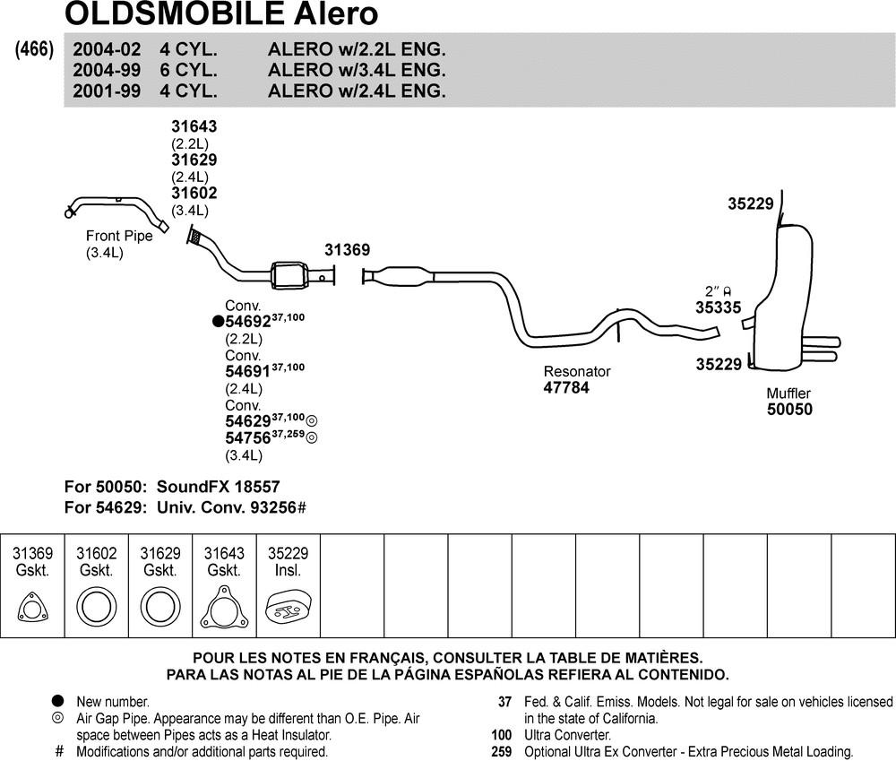 2003 Oldsmobile Alero V6 Filter Mounting Fuse Box Diagram
