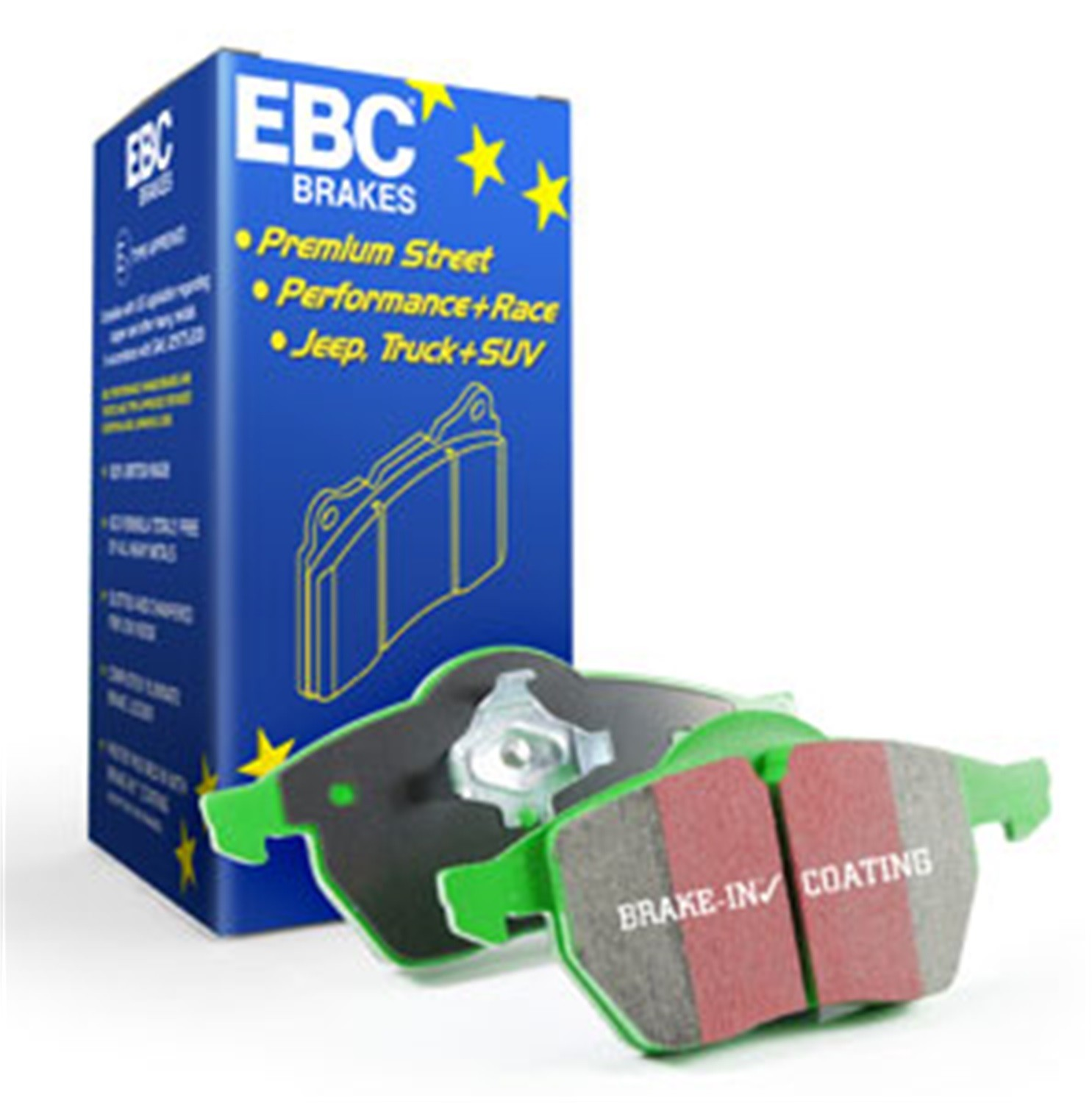 EBC BRAKES - EBC Greenstuff 2000 Series Sport Disc Brake Pad (Rear)