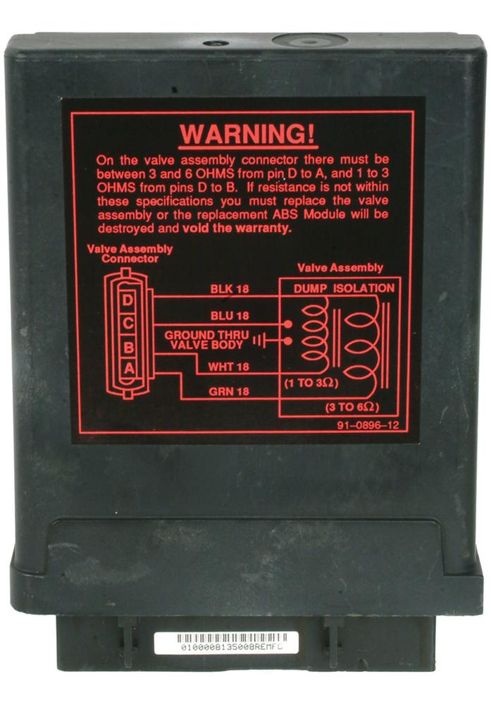 CARDONE REMAN - ABS Control Module - A1C 12-1000