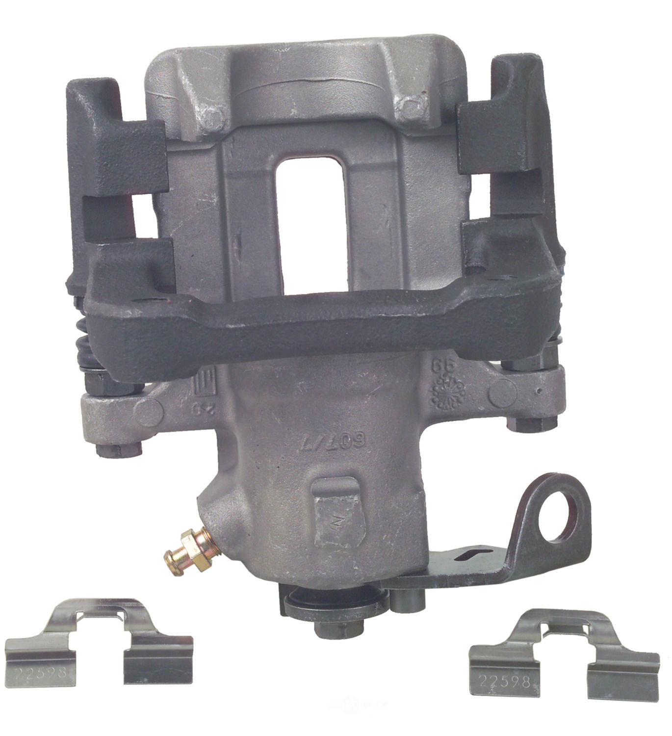 Disc Brake Caliper-Unloaded Caliper with Bracket Rear Left Cardone Reman