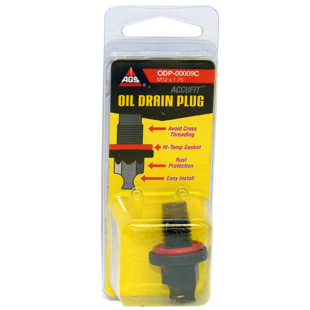 AGS COMPANY - Engine Oil Drain Plug - Clamshell - AGS ODP-00009C