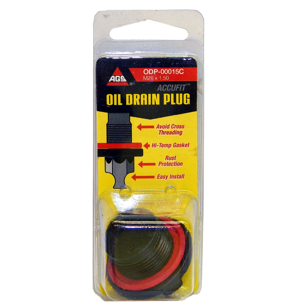 AGS COMPANY - Accufit Oil Drain Plug M26x1.50, Card - AGS ODP-00015C