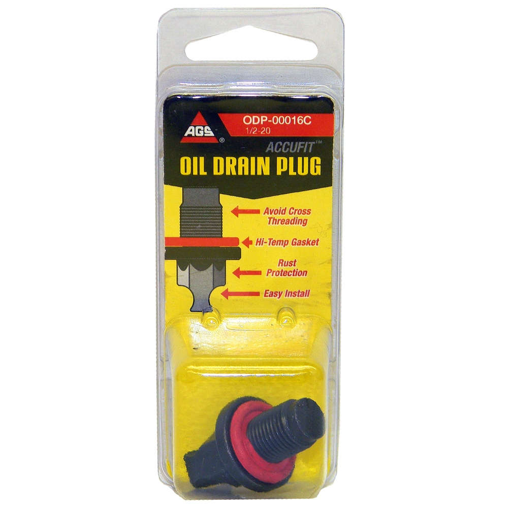 AGS COMPANY - Accufit Oil Drain Plug 1/2-20, Card - AGS ODP-00016C