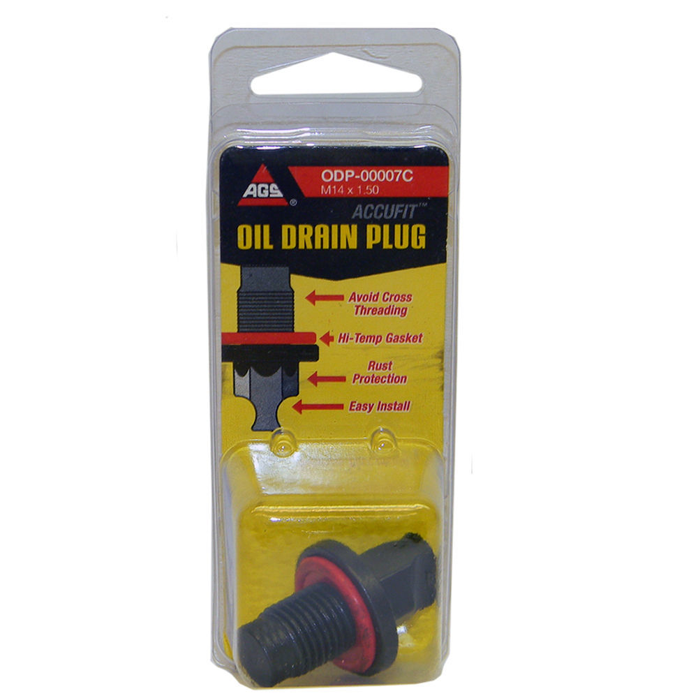 AGS COMPANY - Accufit Oil Drain Plug M14x1.50, Card - AGS ODP-00007C