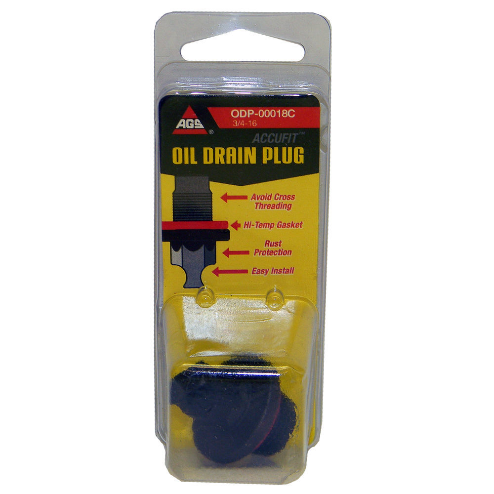 AGS COMPANY - Accufit Oil Drain Plug 3/4-16, Card - AGS ODP-00018C
