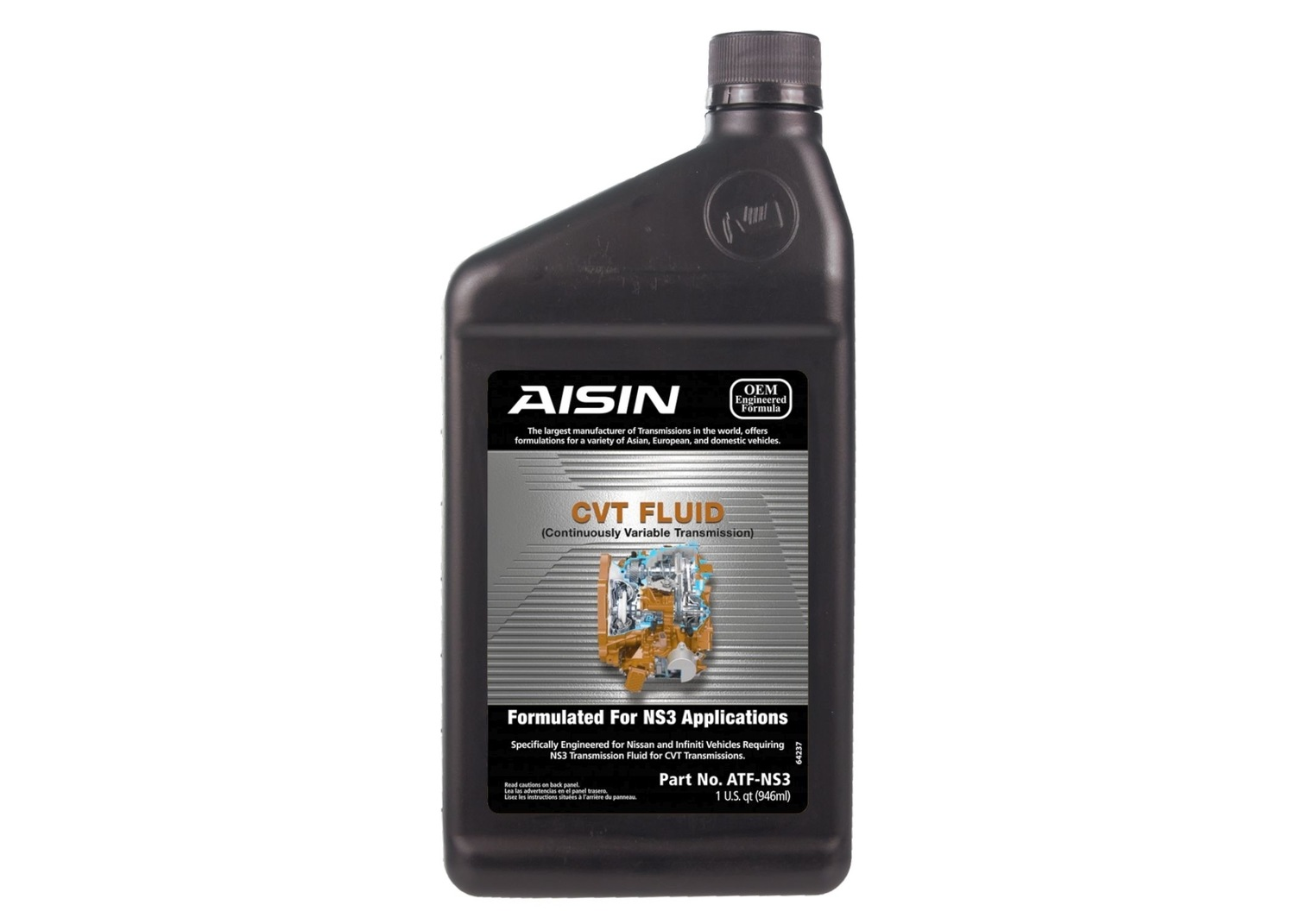 AISIN WORLD CORP. OF AMERICA - Auto Trans Fluid - AIS ATF-NS3