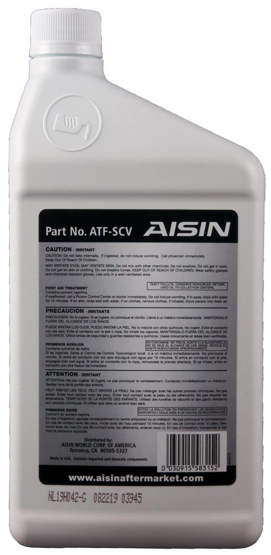 AISIN WORLD CORP. OF AMERICA - Auto Trans Fluid - AIS ATF-SCV