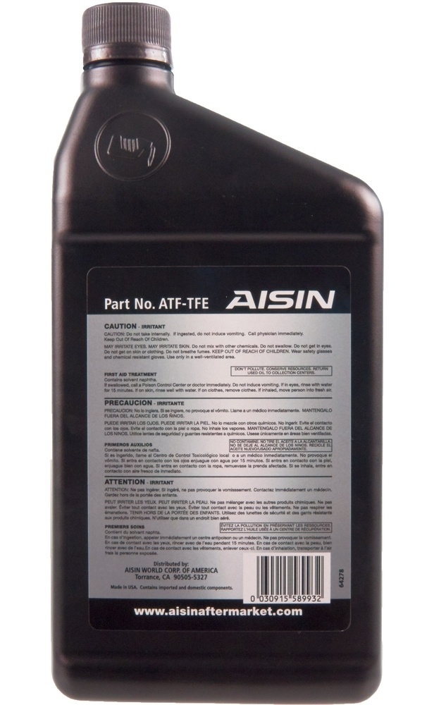 AISIN WORLD CORP. OF AMERICA - Auto Trans Fluid - AIS ATF-TFE