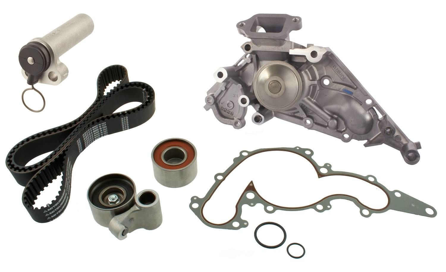 AISIN WORLD CORP. OF AMERICA - Engine Timing Belt Kit w/Water Pump - AIS TKT-021