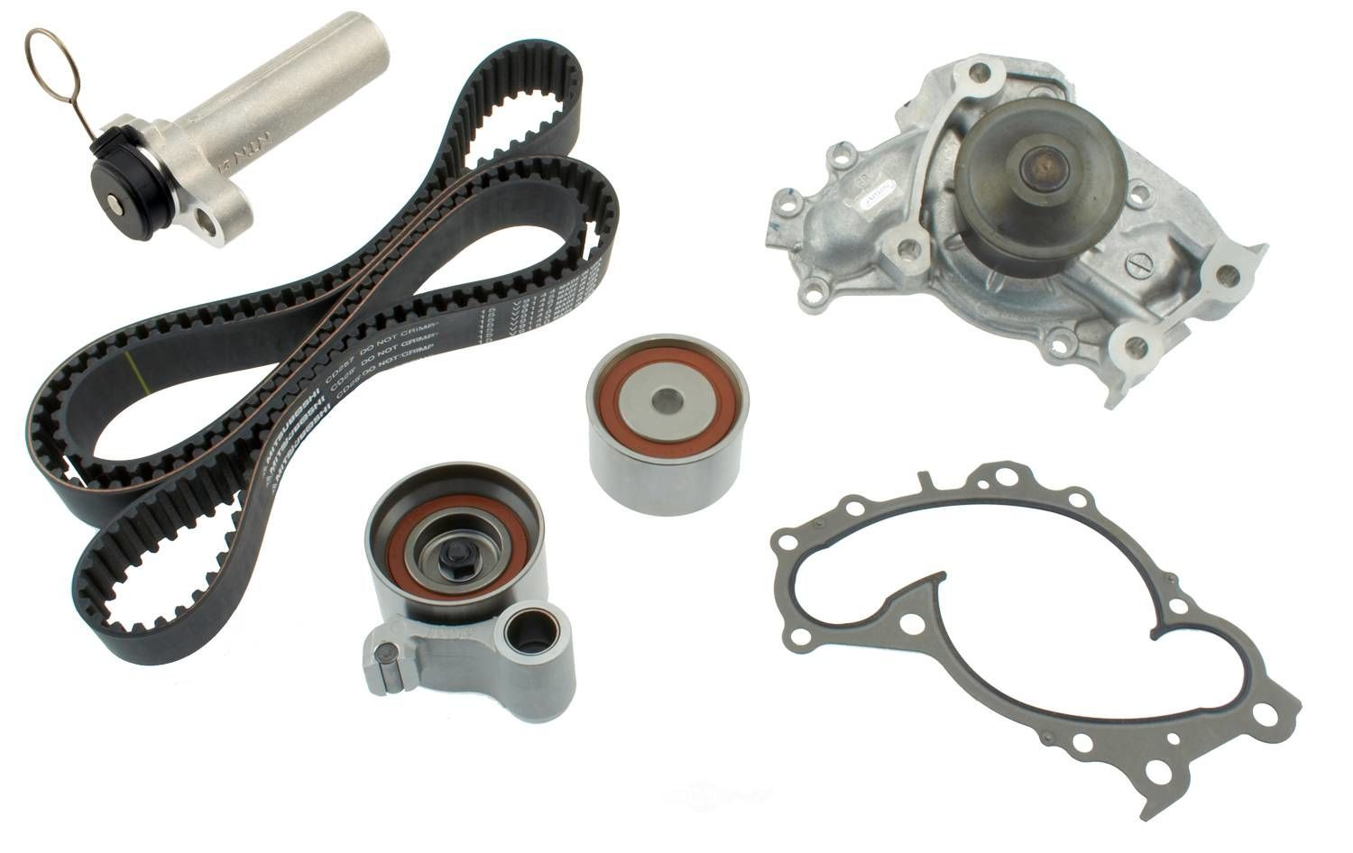 AISIN WORLD CORP. OF AMERICA - Engine Timing Belt Component Kit W/hydraulic Tensioner - AIS TKT-024