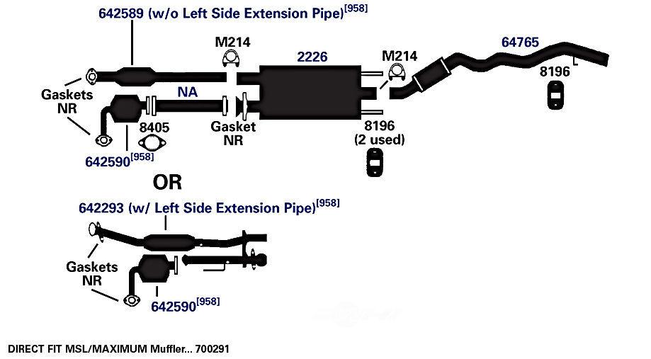 AP EXHAUST W/FEDERAL CONVERTER - Exhaust System Hanger - APF 8196