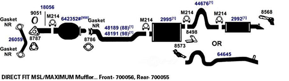 AP EXHAUST W/FEDERAL CONVERTER - Exhaust Muffler Assembly - APF 7551