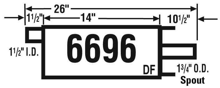 AP EXHAUST W/O FEDERAL CONVERTER - Exhaust Muffler - APK 6696