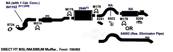 AP EXHAUST W/O FEDERAL CONVERTER - Exhaust System Hanger - APK 8204