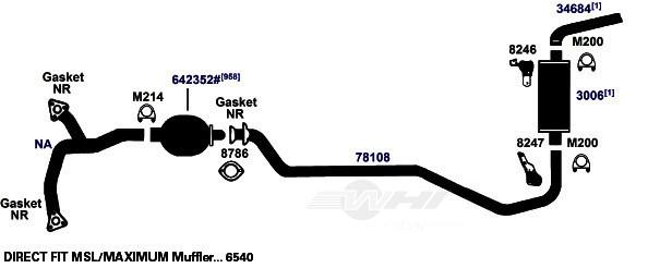 AP EXHAUST W/O FEDERAL CONVERTER - Exhaust Muffler Gasket - APK 9030