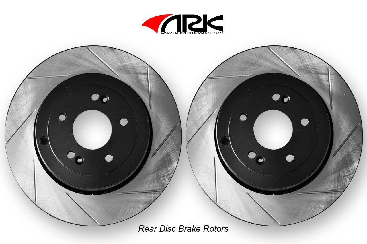ARK PERFORMANCE - Front Drilled & Slotted/Brembo Brakes Rotors - ARK BR0700-103SR
