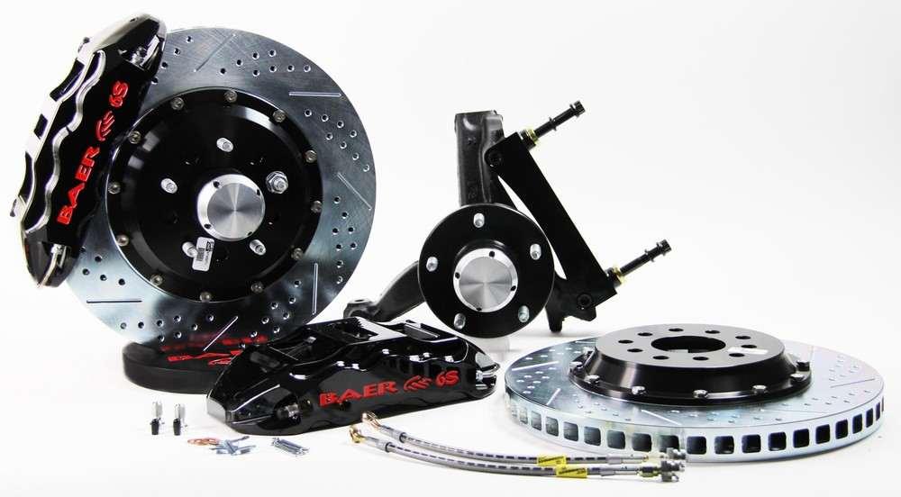 BAER BRAKE SYSTEMS - Brake System 14 Inch Front Extreme  Black 70-81 GM F Body Modified Drop - B1F 4301082B