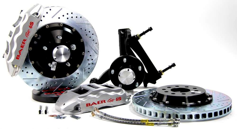 BAER BRAKE SYSTEMS - Brake System 14 Inch Front Extreme  Silver 94-96 GM B Body Modified Stoc - B1F 4301086S