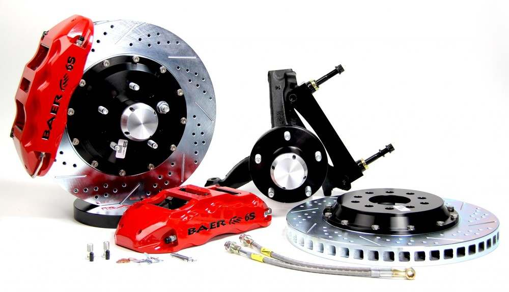 BAER BRAKE SYSTEMS - Brake System 14 Inch Front Extreme  Red 94-96 GM B Body Modified Drop Sp - B1F 4301087R