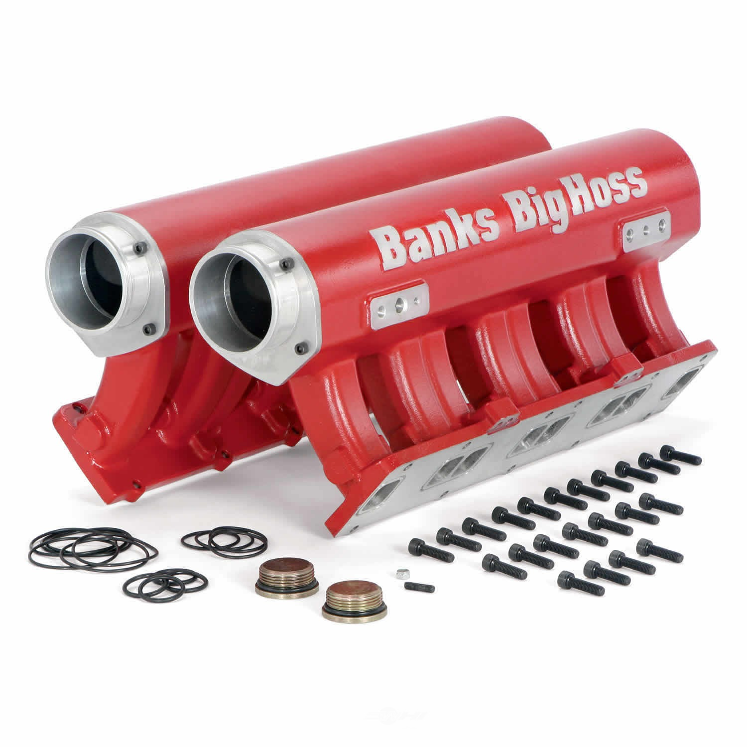 BANKS POWER - Big Hoss Racing Intake Manifold System - Red Powder Coated - B1T 42733