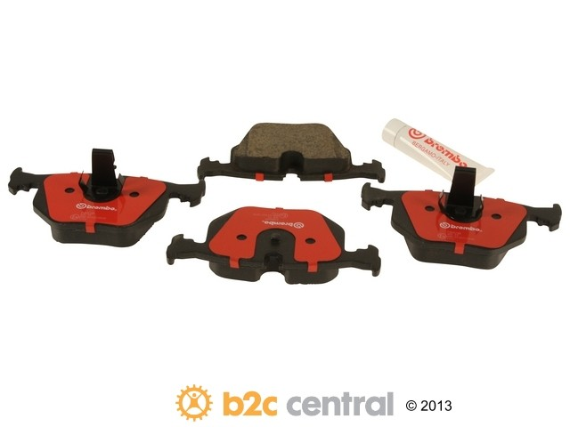 FBS - Brembo Ceramic Brake Pad Set With Shims (Rear) - B2C W0133-1608235-BRE