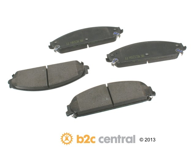 FBS - Akebono PRO-ACT Ultra-Premium Brake Pad Set Ceramic (Front) - B2C W0133-1610583-AKE