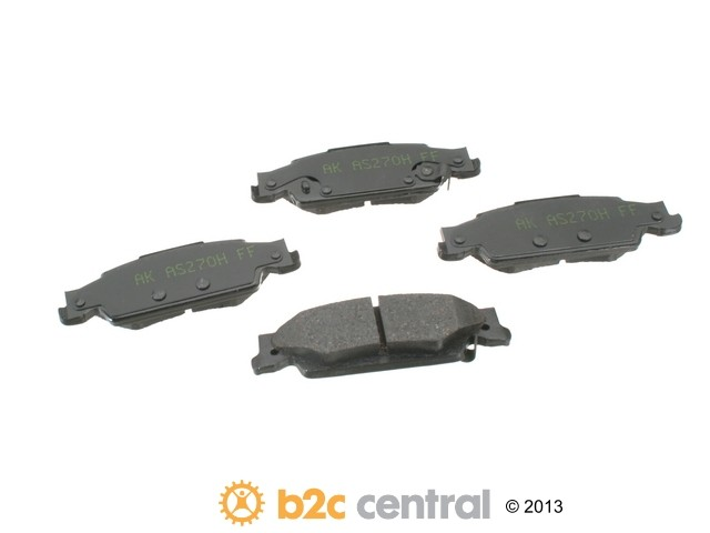 Akebono -  PRO-ACT Ultra-Premium OE Brake Pad Set Ceramic (Rear) - B2C W0133-1611212-AKE