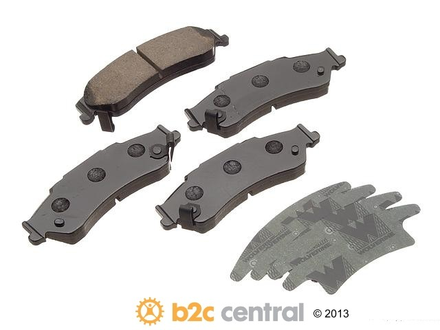 FBS - Akebono PRO-ACT Ultra-Premium Brake Pad Set Ceramic (Rear) - B2C W0133-1611497-AKE