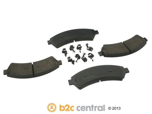 FBS - Akebono PRO-ACT Ultra-Premium Brake Pad Set Ceramic (Front) - B2C W0133-1611700-AKE