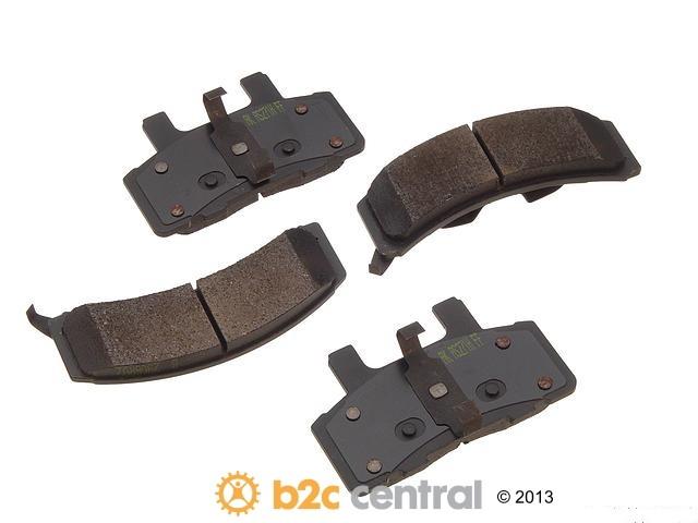 FBS - Akebono PRO-ACT Ultra-Premium Brake Pad Set Ceramic (Front) - B2C W0133-1611765-AKE