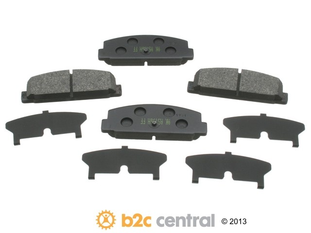 FBS - Akebono PRO-ACT Ultra-Premium OE Brake Pad Set Ceramic (Rear) - B2C W0133-1612039-AKE