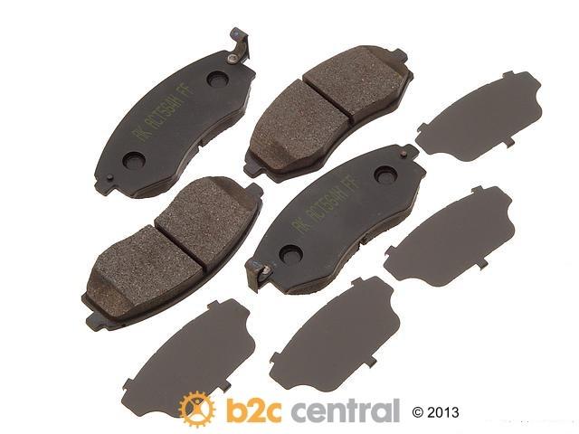 FBS - Akebono PRO-ACT Ultra-Premium Brake Pad Set Ceramic (Front) - B2C W0133-1612092-AKE