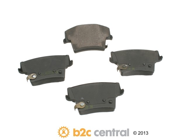 FBS - Akebono PRO-ACT Ultra-Premium Brake Pad Set Ceramic (Rear) - B2C W0133-1612415-AKE