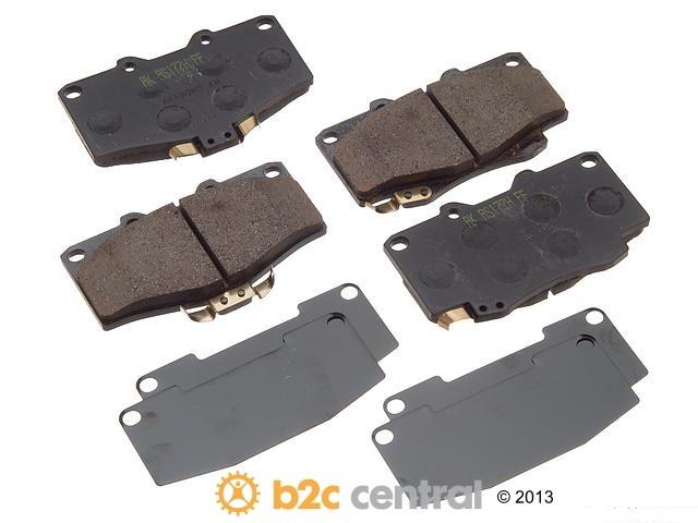 FBS - Akebono PRO-ACT Ultra-Premium OE Brake Pad Set Ceramic (Front) - B2C W0133-1612710-AKE