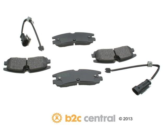 FBS - Akebono PRO-ACT Ultra-Premium OE Brake Pad Set Ceramic (Rear) - B2C W0133-1612714-AKE