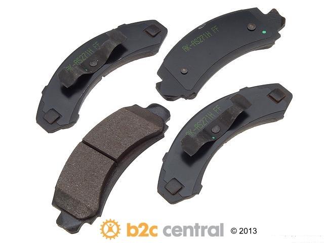 Akebono -  PRO-ACT Ultra-Premium OE Brake Pad Set Ceramic (Front) - B2C W0133-1612798-AKE