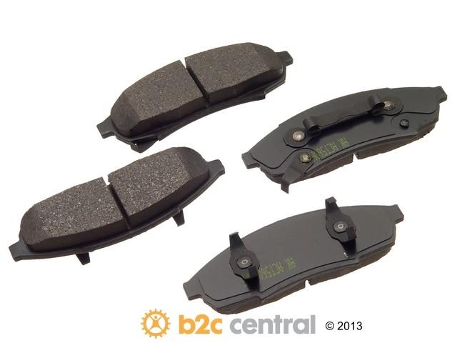 FBS - Akebono PRO-ACT Ultra-Premium Brake Pad Set Ceramic (Front) - B2C W0133-1613340-AKE