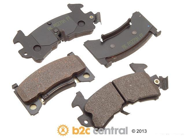 FBS - Akebono PRO-ACT Ultra-Premium Brake Pad Set Ceramic (Front) - B2C W0133-1613587-AKE