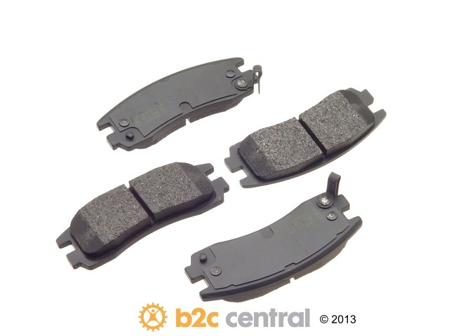 FBS - Akebono PRO-ACT Ultra-Premium OE Brake Pad Set Ceramic (Rear) - B2C W0133-1613705-AKE