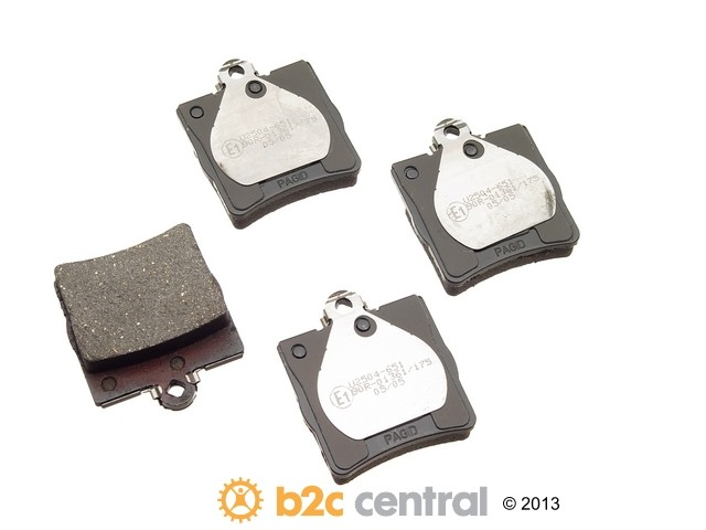 FBS - Pagid OE Formulated Brake Pad Set With Shims (Rear) - B2C W0133-1614060-PAG