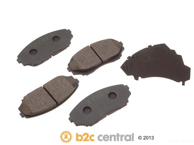 FBS - Akebono PRO-ACT Ultra-Premium OE Brake Pad Set Ceramic (Front) - B2C W0133-1614657-AKE