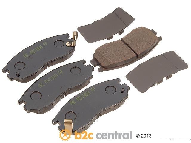 FBS - Akebono PRO-ACT Ultra-Premium Brake Pad Set Ceramic (Front) - B2C W0133-1614931-AKE