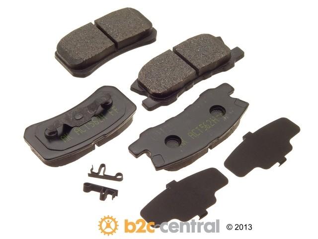 FBS - Akebono PRO-ACT Ultra-Premium OE Brake Pad Set Ceramic (Rear) - B2C W0133-1614943-AKE