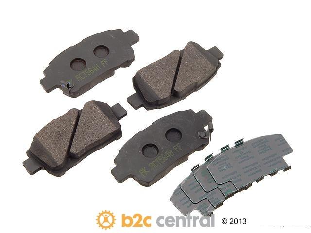 FBS - Akebono PRO-ACT Ultra-Premium OE Brake Pad Set Ceramic (Front) - B2C W0133-1615444-AKE